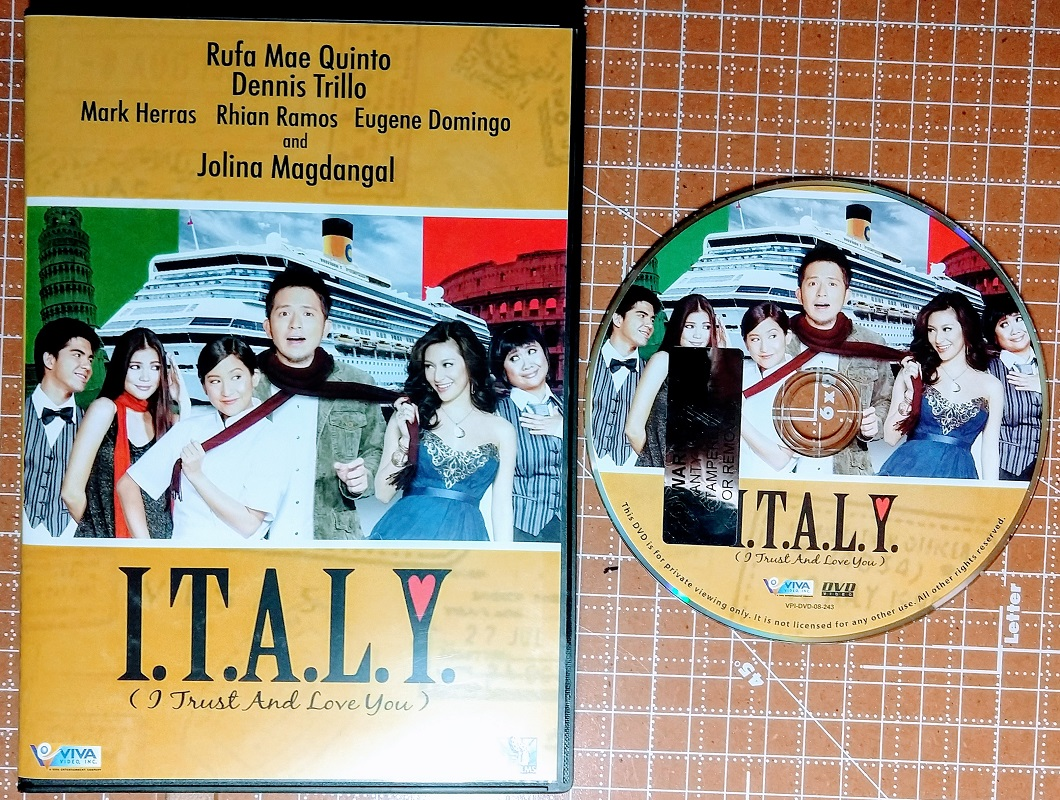 Filipino Tagalog Movies on DVD For Sale: I T A L Y  (I Trust And